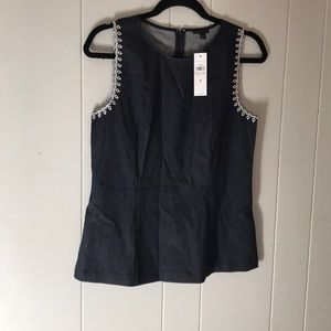ANN TAYLOR size small embroidered sleeveless top